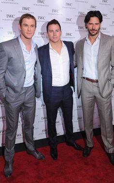 Chris Hemsworth, Channing Tatum & Joe Manganiello -- One of each please :)