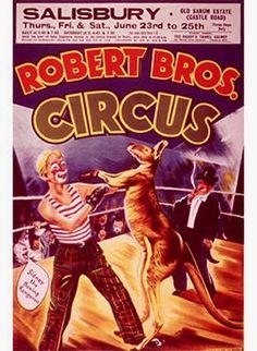 Vintage Robert Bros Circus Poster