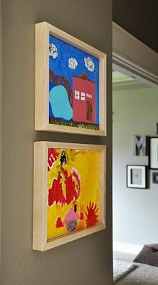 Easy DIY frame for painted canvases