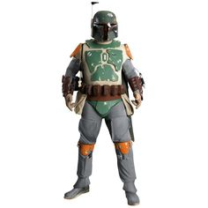 Alter Ego Comics brings you the Boba Fett Supreme Edition Costume. The most feared bounty hunter in the Star Wars universe, Boba Fett is one of the most popular Star Wars characters ever. The Boba Fett Supreme Edition costume is molded from the original and includes a jumpsuit with attached cape and molded armor pieces, Wookie braids, belt, molded ammo belt, gloves, jetpack and collector's edition helmet.