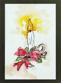 A lovely hand-painted Christmas card to share joy during the festivities.