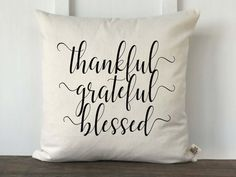 Thankful Grateful Blessed Pumpkin Farmhouse Fall Pillow Cover How To Make Pillow Covers Whether you Fall Pillows, Diy Pillows, Couch Pillows, Decorative Pillows, Throw Pillows, Homemade Pillows, Custom Couches, Couch Pillow Covers, Ink Transfer