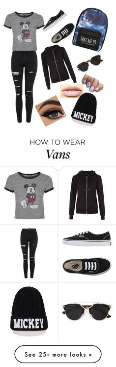 """""""Untitled #70"""" by valalcala on Polyvore featuring Topshop, Vans, Christian Dior, LASplash and Disney"""