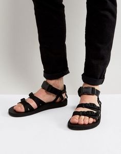 89f7ff4140ab TEVA ALP CANVAS MULTI STRAP SANDALS - BLACK.  teva  shoes   Hiking Sandals