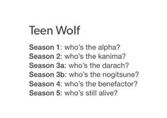 Teen wolf in one text post