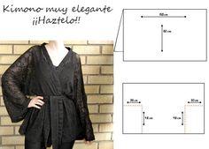 Kimonono de encaje