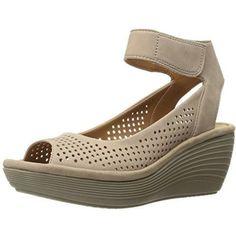 44de80a55e87 Clarks Women s Reedly Salene Wedge Sandal