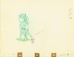 Production Drawing of Zebra Centaurette from Fantasia