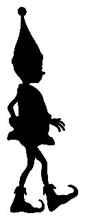 What if our elves left tiny shadow silhouettes of their antics...I love this idea!