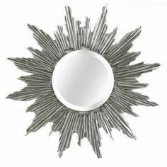 31.5 in. x 31.5 in. Celestial Sunburst Framed Mirror