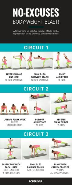 Pin for Later: If You Do 1 Workout, It Better Be This The Workout For more details on each exercise keep reading.