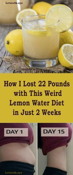 How I Lost 22 Pounds with This Weird Lemon Water Diet in Just 2 Weeks. Got to go buy lemons.