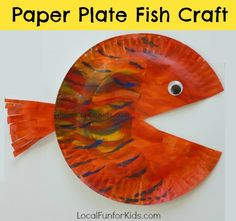 Paper Plate Fish Craft for Kids - Home - Philly Mom Blogger, Best Local Blogs, Easy Crafts, Activities