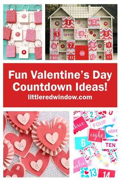 Get your sweeties ready for the big day with these fun, crafty & creative Valentine's Day Countdown Ideas! Valentines Day Quotes For Him, All Valentine Day, Easy Valentine Crafts, Valentine Banner, Valentines Day Chocolates, Valentines Day Activities, Holiday Crafts, Holiday Ideas, Valentine Day Calendar