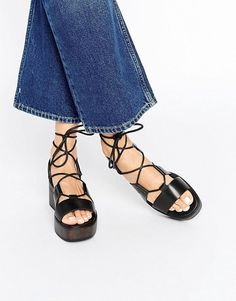 Vagabond | Vagabond Noor Black Cross Front Platform Sandals