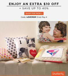 Make Mom a thoughtful (and quick) gift and save $10 off your order of $10+. Use code: LOVEMOM. Offer ends May 4. Order now to get gifts in time. Taxes, shipping and handling will apply.