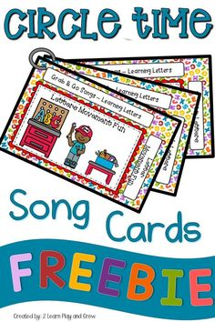 This FREEBIE set of song cards is all about teaching Pre-K and Kindergarten students letters in their names and in the alphabet. These fun songs and rhymes will have your kids engaged and interested d. Preschool Songs, Preschool Literacy, Kindergarten Teachers, Circle Crafts Preschool, Kindergarten Circle Time, Circle Time Songs, Circle Time Activities, Alphabet Songs, Alphabet Activities
