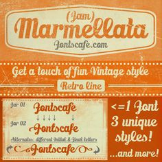 """Marmellata (Jam)"" font. One font, three unique styles...and more! #fonts #script #typography"