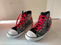 Converse All Star Chuck Taylor HighTop Womens 5 Black White Tattoos High Tops #Converse #Athletic