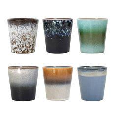 HK-Living Mugs ceramic set of 6