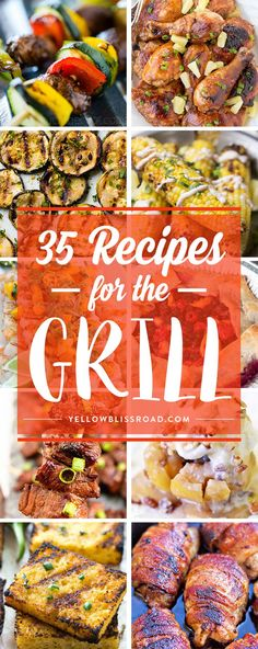 I love Summer time! Here are some fabulous recipes for the grill that your whole family will enjoy - tender meat, juicy vegetables and even desserts! Summer Recipes, New Recipes, Dinner Recipes, Favorite Recipes, Delicious Recipes, Tasty, Healthy Grilling Recipes, Cooking Recipes, Grill Recipes