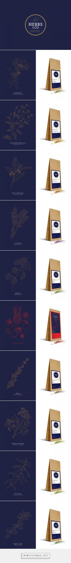 HERBS AND CO Logo Design and Packaging by Julien Hamel | Fivestar Branding Agency – Design and Branding Agency & Curated Inspiration Gallery #designinspiration #branding #logodesign #fivestarbrandingagency