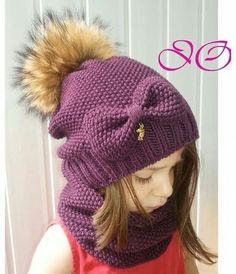 Baby Hats Knitting, Knitting For Kids, Crochet For Kids, Crochet Baby, Knitted Hats, Baby Girl Winter Hats, Baby Girl Hats, Girl With Hat, Knitting Videos