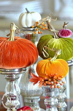 5 Beautiful Ways to Style Pumpkins Harvest Decorations, Thanksgiving Decorations, Seasonal Decor, Halloween Decorations, Holiday Decor, Winter Decorations, House Decorations, Thanksgiving Ideas, Holiday Ideas