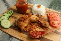 Pimentious: Pecel Ayam Kremes (Fried Chicken with Crunchy Crumbles)