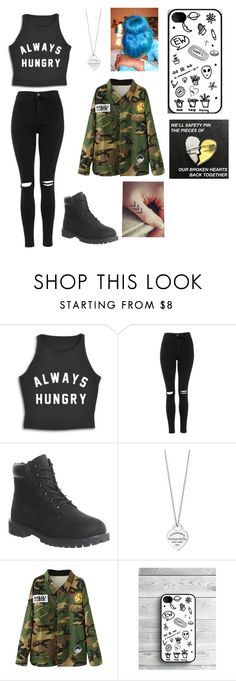 """""""Going to school"""" by stylesassygirl ❤ liked on Polyvore featuring Topshop, Timberland and Tiffany & Co."""