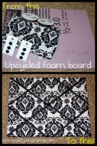 Upcycle a foam board into a pinboard
