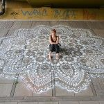 Urban Jewelry: Lace Street Art by NeSpoon  Aka thread/yarn-bombing at its best!!!