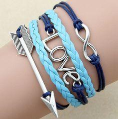arrow braceletlove charminfinity braceletleather wrap by chicfavor, $4.19