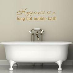 bubble bath quote wall sticker
