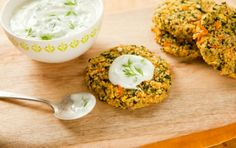 Quinoa Garden Cakes with Lemony Yogurt. These look like the veg burgers one of my comps and I would eat on a daily basis. This needs to happen.