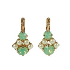 Rio Rosevergoldete Ohrhänger mit Opal - Grün