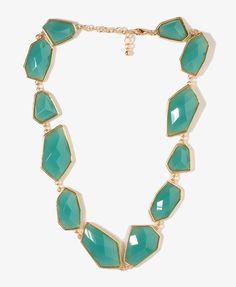 Faceted Geo Nugget Necklace