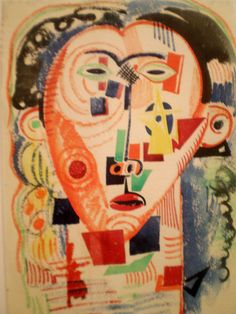 Amadeo de Souza-Cardoso 'Litoral cabeza', c. Center of Modern Art, Calouste Gulbenkian Museum, Lisbon Cubist Art, Abstract Art, Contemporary Artists, Modern Art, Modernisme, Making Faces, Gustav Klimt, Paint Designs, Art Forms