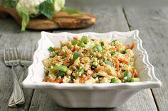 Cauliflower fried rice. YUM!