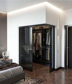 Wardrobe Room, Wardrobe Design Bedroom, Room Design Bedroom, Home Room Design, Dream Home Design, Home Decor Bedroom, Home Interior Design, Corner Wardrobe, Small Room Design