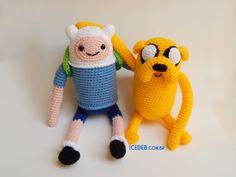 Finn and Jake crochet amigurumi by Icedeb.deviantart.com on @deviantART