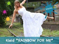 Foto für Schnittmuster Rainbow for me von klecksMACS Dress Patterns, Sewing Patterns, White Dress, Rainbow, Etsy, Crochet, Books, Dresses, Fashion