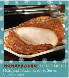 HoneyBaked Turkey Breast – Moist and Tender with Sweet, Crunchy Glaze #Traditions #Holiday #HoneyBaked #Turkey  www.HoneyBaked.com