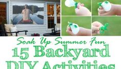 Get blissful rest at the end of the night with these 15 backyard DIY activities. Let the kids burn off energy with games that last well into the night. Family Movie Night, Family Movies, Hands On Activities, Fun Activities, Yard Yahtzee, Easy Diys For Kids, Outdoor Movie Screen, Playhouse Outdoor, Backyard Games