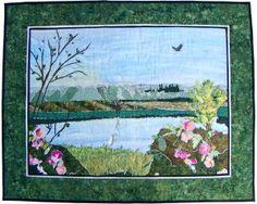 Tualatin Valley Landscape Quilt - Quilt by Alaffin