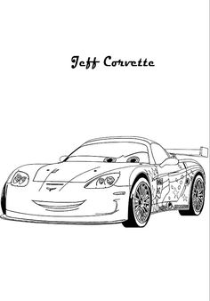 Corvette Coloring Pages Coloring Pages Pinterest