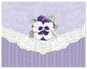 Carol Wilson Pansy Note Card Portfolio