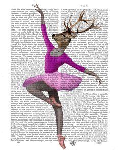 Hirsch Ballett-Tänzerin Rosa, Mischtechniken