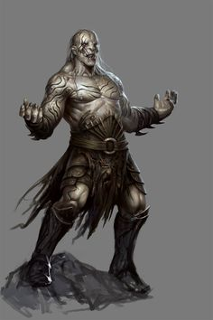 """Azog - The Hobbit: Armies of the Third Age Illustrations by Mike """"Daarken"""" Lim"""