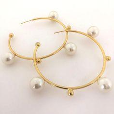 Pearl Earrings, Pearls, Bracelets, Gold, Jewelry, Fashion, Women, Moda, Pearl Studs